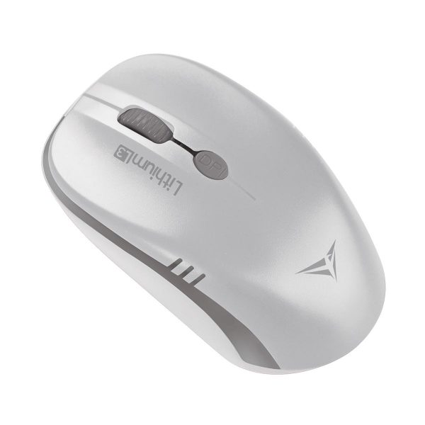Alcatroz Lithium L3 High-Definition and 4 Button Wireless Mouse - White/Gray