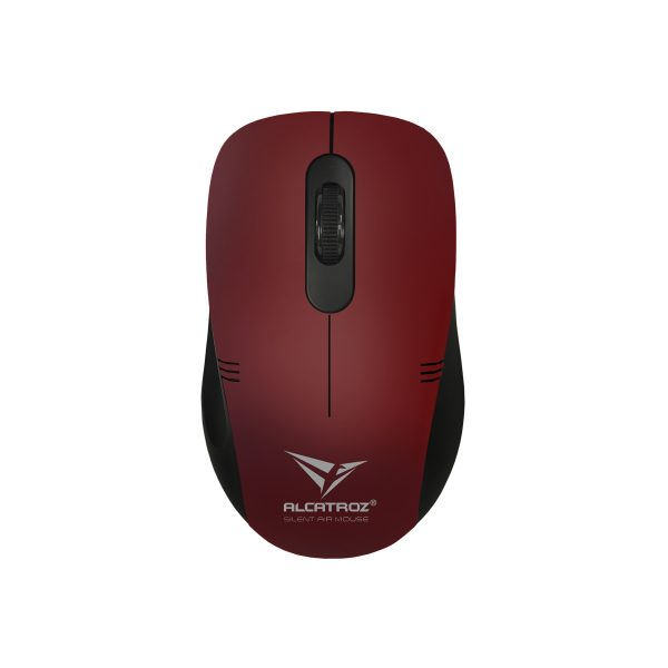 Alcatroz – Stealth Air 3 – Wireless Silent Clicks Mouse – Dark Red – 01